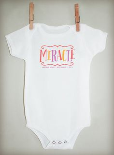 c53077828 I m a Miracle Personalized Bodysuit or Tee by lilljbaby on Etsy Preemie  Babies