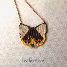 Grand sautoir renard en perles fines : Collier par l-ours-bleu