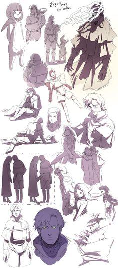 Ergo Proxy doodles by ~hadesha on deviantART