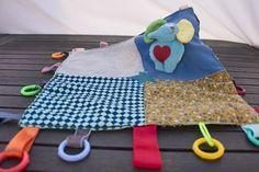 Mantita de juegos para bebé - Artesanía en casa - La Abuela Barbuda