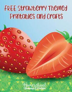 FREE Strawberry Themed Printables and Crafts - Homeschool Giveaways Preschool Colors, Preschool Themes, Preschool Crafts, Strawberry Crafts, Strawberry Farm, Strawberry Delight, Preschool Lesson Plans, Free Preschool, Farm Activities