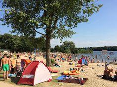 Strandbad-Nord am Unterbacher See http://www.ausflugsziele-nrw.net/unterbacher-see/ #UnterbacherSee #Duesseldorf #Badesee