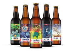 The love for sci-fi and good beer finally intersect. Probus Brewery turned  to FLOV Creative Agency for a series of fun labels that craft beer lovers  would enjoy.
