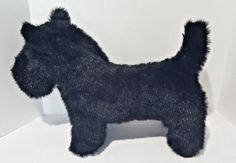 Stuffed Plush Animal Scottie Dog Medium Black Scottish Terrier Puppy Toy  #Handmade