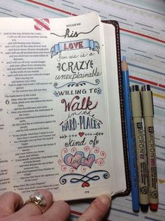 Micah 5 - his love for us is a crazy unexplainable, willing to walk in the hard places kind of a love [credit to S. Micah Bible, Faith Bible, Scripture Art, Bible Art, Bible Prayers, Bible Scriptures, Bible Study Journal, Art Journaling, Scripture Journal
