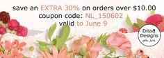 DitaB Designs: EXTRA 30% OFF in E-Scape and Scrap