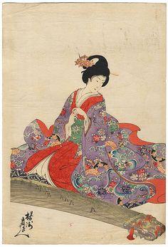 China geisha japan painted