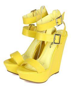 737447a98364b4 Breckelles CC92 Women Leatherette Open Toe Strappy Platform Wedge Sandal  Cute Shoes