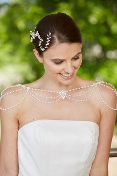 Wedding Jacket, Diamond Earrings, Wraps, Pearls, Flowers, Jackets, Jewelry, Fashion, Diamond Studs