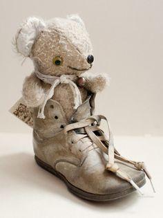 Japanese Artist one-of-a-kind Teddy Bear Sand Sun Hisa Kato Kato
