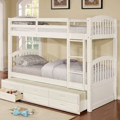 Wildon Home ® Twin Bunk Bed With Trundle And Storage