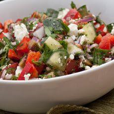 Chopped Greek Salad with Fresh Herbs