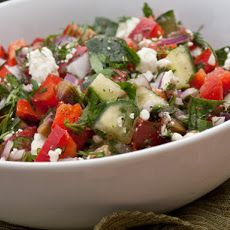 Chopped Greek Salad with Fresh Herbs
