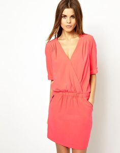 Y.A.S | Y.A.S Instant Dress with Wrap Detail and Zips at ASOS