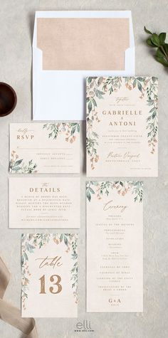 Rustic vines wedding invitation suite with gorgeous vines surrounding all the wedding details. Rustic vines wedding invitation suite with gorgeous vines surrounding all the wedding details. Wedding Envelopes, Simple Wedding Invitations, Rustic Invitations, Wedding Invitation Wording, Wedding Stationery, Event Invitations, Wedding Invites Vintage, Simple Wedding Cards, Traditional Wedding Invitations