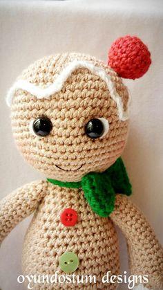 Amigurumi gingerbread man pattern by oyundostum on Etsy