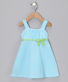 Take a look at this Turquoise Babydoll Dress - Infant & Toddler by Blow-Out on #zulily #fall today!