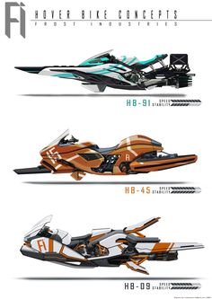 Hover Bike Concepts, Benjamin Tan on ArtStation at https://www.artstation.com/artwork/hover-bike-concepts