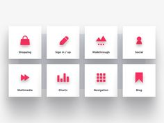 Category Icons by Igor Savelev #Design Popular #Dribbble #shots