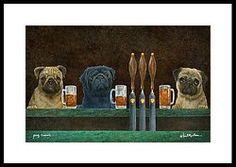 Pug Crawl... Framed Print by Will Bullas