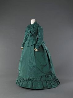 Worth and Bobergh, Green Day Dress, Paris, c. 1869.