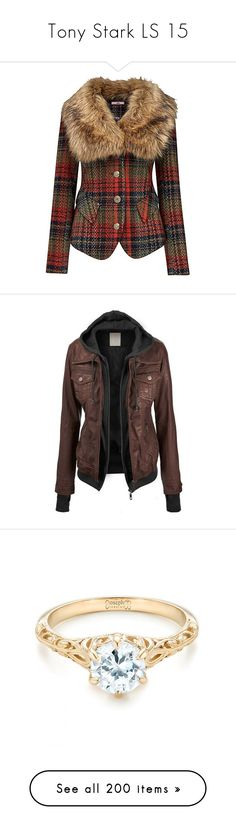 """Tony Stark LS 15"" by ffirnbach ❤ liked on Polyvore featuring outerwear, jackets, coats, coats & jackets, plaid, vintage plaid jacket, faux fur collar jacket, brown jacket, joe browns jackets and vintage jackets"