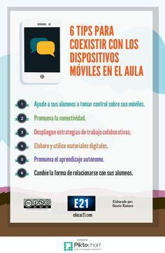 6 Tips para Coexistir con los Dispositivos Móviles en el Aula   #Infografía #Educación