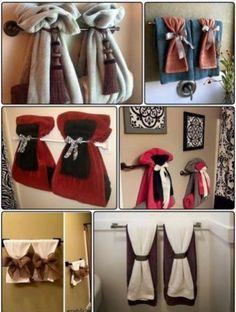 glamorous bathroom towel rack decorating ideas | Exclusive DIY Towel Storage Ideas | Upstairs bathroom ...