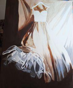 Lucy's dress 5th Apr Lucy Dresses, I Go Crazy, Wedding Dresses, Painting, Art, Bride Dresses, Art Background, Bridal Gowns, Wedding Dressses