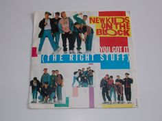 """1989 - New Kids On The Block - You Got It ( The Right Stuff) - Rare Picture Sleeve 7"""" single - 45 Vinyl Record - Classic 80's Boy Band Pop"""