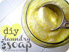 Raising up Rubies: diy laundry soap ... ♥