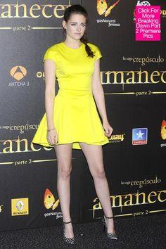 Kristen Stewart 'Breaking Dawn: Part 2′ Madrid Premiere: Her Sexy Mini - Hollywood Life