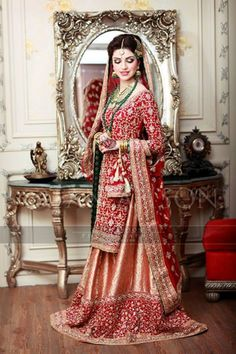 Red Bridal Lehengas Trends 2016 For Women002