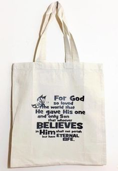 GOD So Loved The World... Canvas Tote Bag by Seven daz #SevenDaz #ToteBag