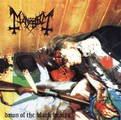 """DAWN OF THE BLACK HEARTS"" BY MAYHEM [THE MORE YOU KNOW! SOME READING MATERIAL ABOUT THE INFAMOUS ALBUM'S ART WORK OF ""DEAD"" (PER YNGVE OHLIN) WHOSE PHOTOGRAPH, AS PICTURED, WAS TAKEN AFTER COMMITTING SUICIDE IN 1991 BY HIS FELLOW BAND MEMBER ""EURONYMOUS"" (ØYSTEIN AARSETH.) [THESE GUYS BEAT OUT JON NÖDTVEIDT AND HIS CRAZY ASS FOR SURE #WHATTHEFUCKSWEDEN #BLACKMETALTILLIDIETHO]"
