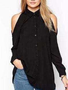 #Shoulder #Flaunt #Long #Blouse (4 Colors)