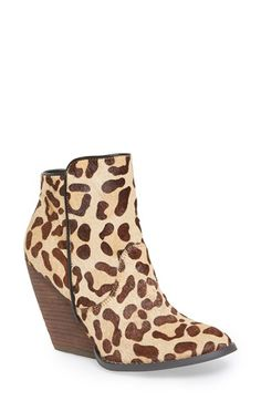Free shipping and returns on Very Volatile 'Feverdream' Bootie (Women) at Nordstrom.com. Stylized leopard spots liven up a tactile horse-hair bootie lifted with a stacked woodgrain wedge for a look that's right on trend.