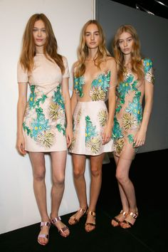 Blumarine Spring Summer 2015 Fashion Show Backstage #mfw