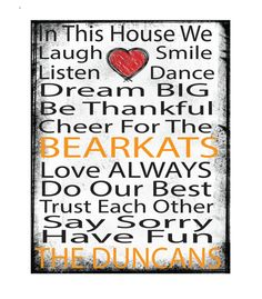 printed canvas,11x14 canvas, mounted canvas,ready to hang canvas,Sam Houston State University, Bearkats, SHU, Texas, dorm art, in this house