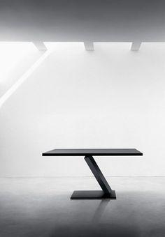 Rectangular metal #table ELEMENT by Desalto |  Tokujin Yoshioka