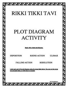 Printables Rikki Tikki Tavi Worksheets rikki tikki tavi vocabulary activities plot diagram for activity
