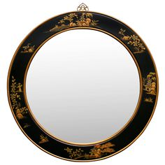"""37in Chinoiserie Round Mirror Will I be offered the """"poison"""" apple?"""