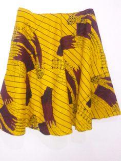 A plus size Ankara flare skirt-Novel Couture
