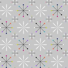 Atomic Pins and Needles Grey Small by modgeek
