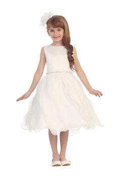 c48dd3a0c7e39 New Knee Length Flower Girl Dresses Sleeveless Zipper Scoop Tulle Ruffles  Satin Sash Beading 2017 Gowns For Wedding -in Flower Girl Dresses from  Weddings ...