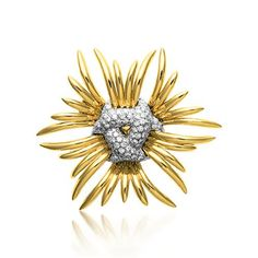 Verdura | Products | BROOCHES | GOLD & DIAMOND | Ray Brooch