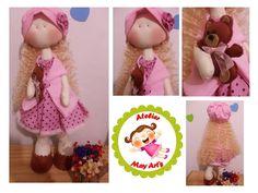Boneca Joice em tecido, com 53 cm