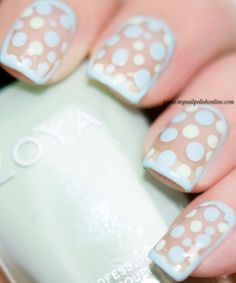 Clean polka dots nail art