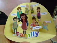 This is s cute family pop up. My older sister made it. I like it very much.