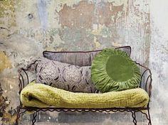 chartreuse - my favourite Deco Nature, Deco Boheme, Ivy House, Plaster Walls, Take A Seat, Home And Deco, Soft Furnishings, Boho Decor, Decoration